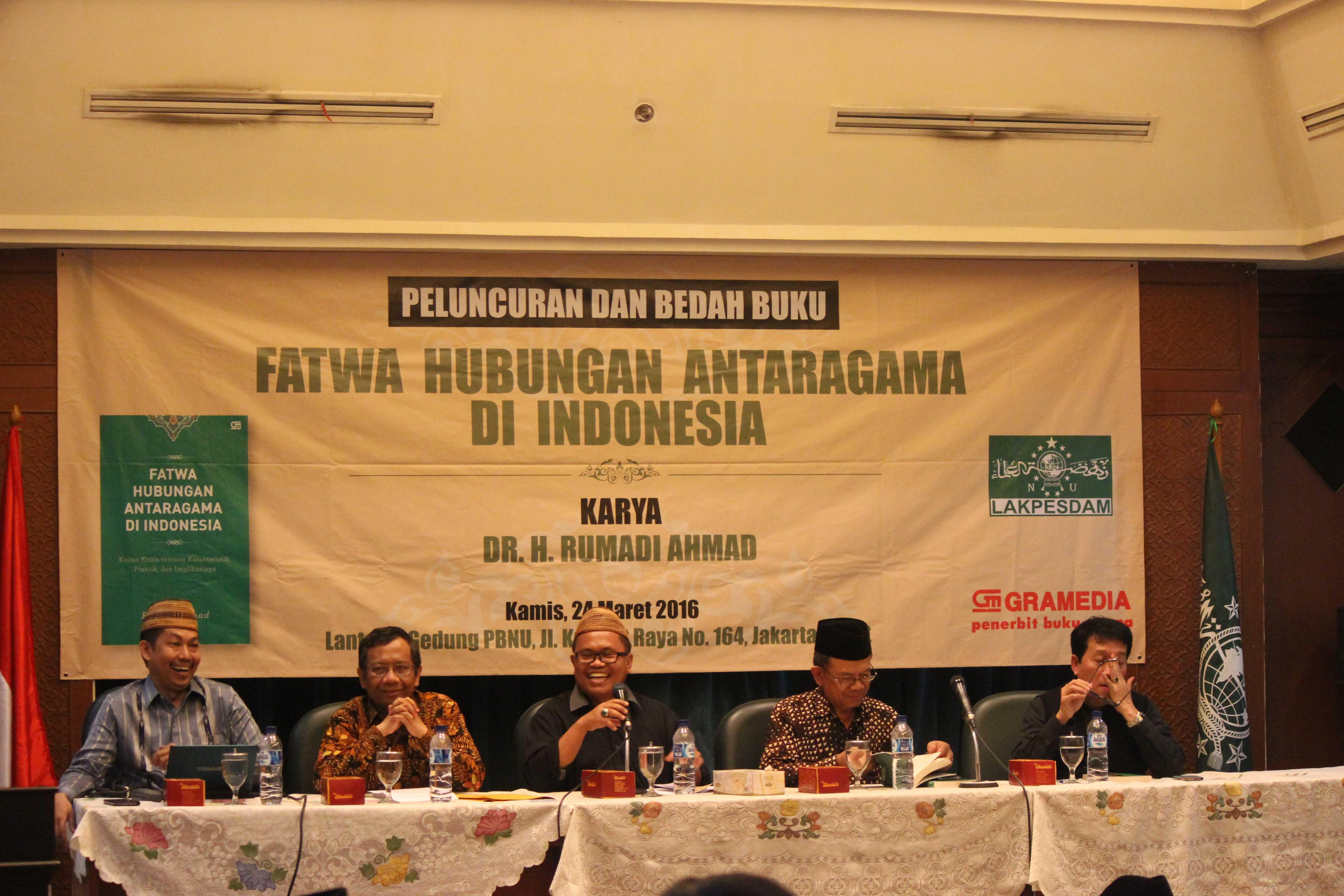 Lakpesdam PBNU Luncurkan Buku Fatwa Hubungan Antaragama di Indonesia