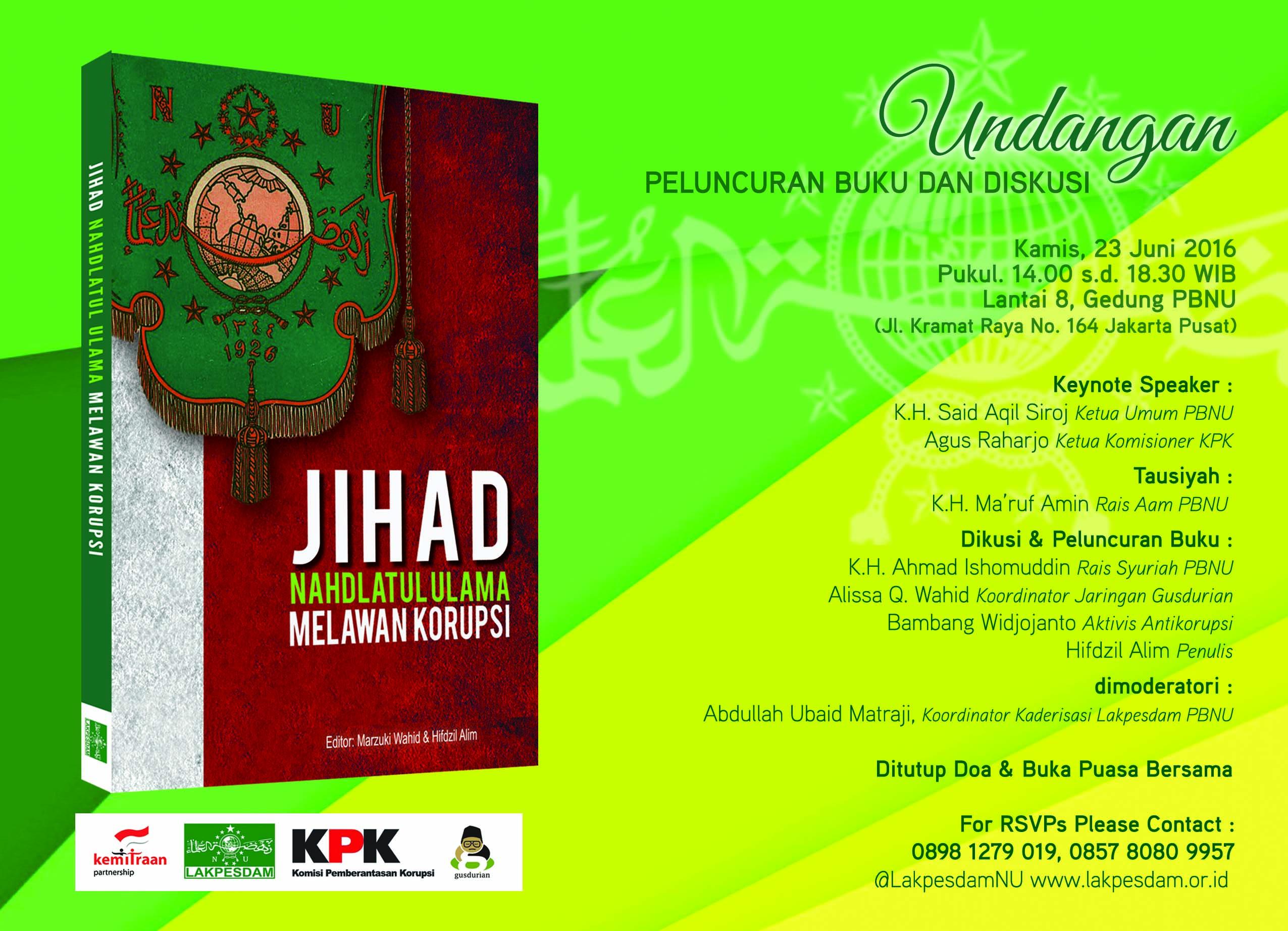 "Undangan Launching Buku ""Jihad Nahdlatul Ulama"""