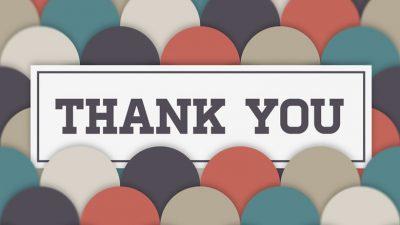 Ucapan Terima Kasih atas Dukungan